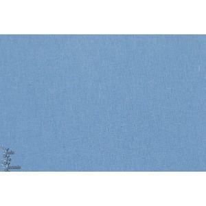 Lin- coton bleu clair couture