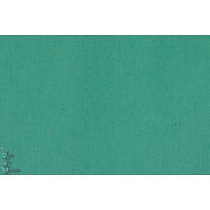 lin-coton -menthe tissu vert