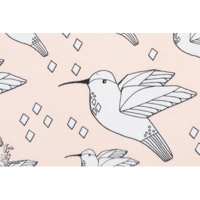 Jersey Bio Colibri Rose  HUMMINGBIRD de ELVELYCKAN DESIGN