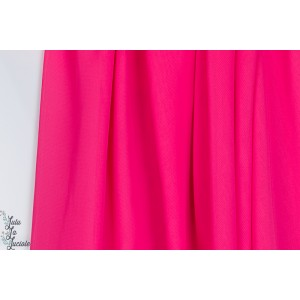 Tissu Mousseline Fushia rose