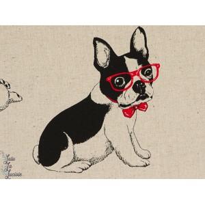 Coton lin épais  Boule dogue à lunette chien