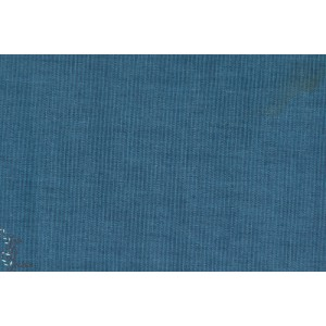 Double gaze Chambray marine bleu robert kaufman
