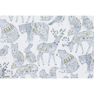 Forest Animal White NORR1214WHITE Norrland Dashwood Studio Bethan Janine animaux blanc