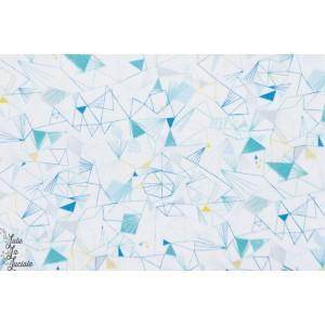 Popeline Blue Ice - NORR1219WHITE glace blanche hiver noel bethan janine norrland Dashwood studio