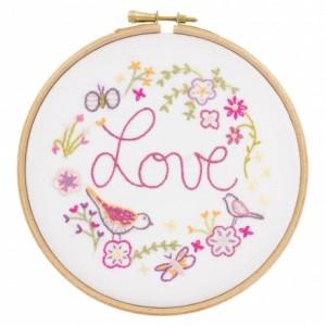 Love love Love : kit à broder un chat à l'aiguille