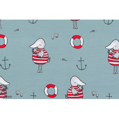 Jersey Bio Seatime, Design: Bernadette Burnett/ Kluntjebunt pour lillestoff.