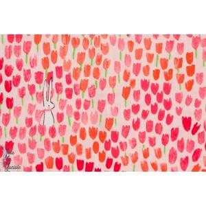 Popeline Sommer - tulip tangled - Michael Miller