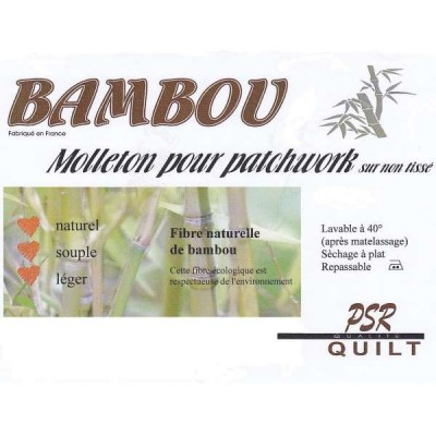 Molleton Bambou 320 * 250cm patch quilt